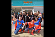 Formby's Rowlands Pharmacy staff at last week's fu