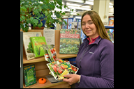Susan Hudson from the West Lancashire Allotment Fe