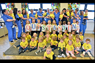 Skelmersdale's Duckling Days Nursery celebrating t