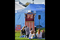 A traditional Punch & Judy Show entertains at last