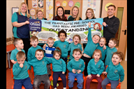 Children and staff at Southport's Frantastic Pre-S