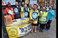 Frack Free Southport campaigning on Lord Street la