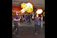 Fire breather Aharon and Joanna at last Saturday's