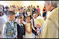 The Rev Ruth Byworth officiates at last week's cer