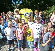 Dave the Minion, Elsa and Anna are very popular wi