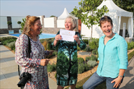 Broadcaster Carol Klein presents Claire Skidmore a