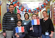 French Delegtion with children from Leamington Pri