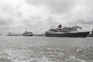 Three Queens Line up in the River Mersey
