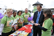 MP Bill Esterton with members of Usdaw who were in