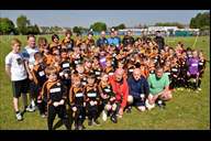 Players and officials from St Thomas Lydiate Leopa