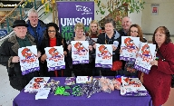 Elaine Brookes (4th from right) West Lancs Unison