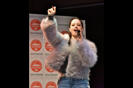 S Club's Tina Barrett wows the crowds.