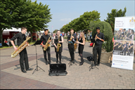 The Merchant Taylors band called SaxPac entertain