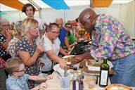 Cookery fans try out Ainsley Harriott's food at th