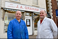 Philip and Stephen Graham - retiring from their Bu