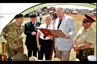 Lord Shuttleworth (centre) Lord Lieutenant of Lanc