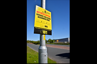 Police witness appeal sign on Gillibrands Road.