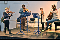 Chiaroscuro Quartet in rehearsal at Parbold Dougla