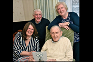 Gerald Rimmer celebrating his 90th birthday with s