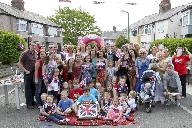 Residents of Rutherglen Avenue in Crosby enjoying