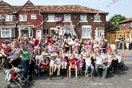 Residents of Daley Road in Litherland enjoying the