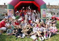 Younger residents of Marian Way in Netherton enjoy