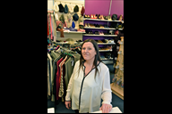 Angie, manager of Lord Street's Scope charity shop