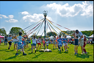 The Maypole Dance to celebrate May Day at the 2018
