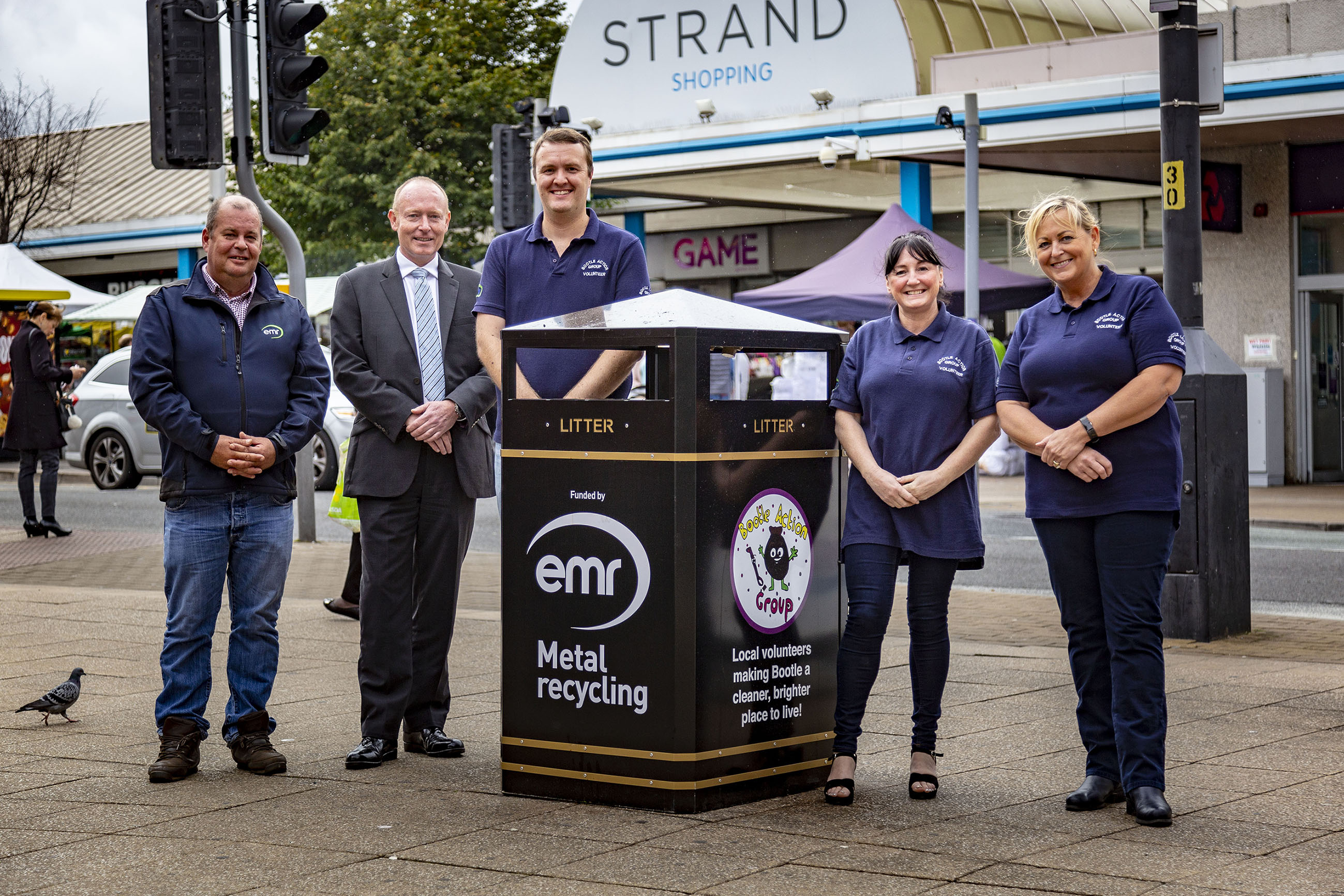 Outdated bins are replaced at Strand