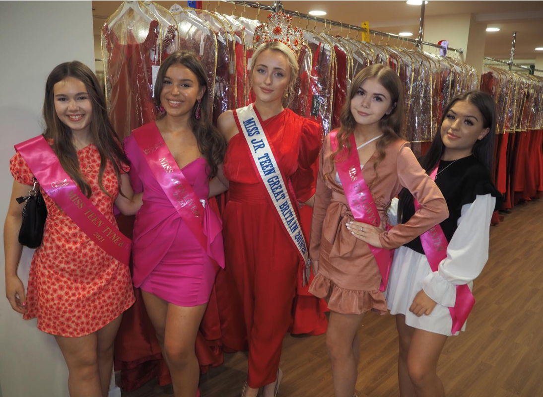 Pageant finalist helps raise £21k for charity