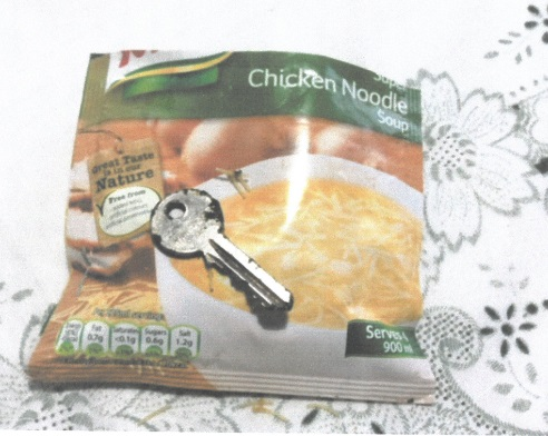 There's a key in my soup!
