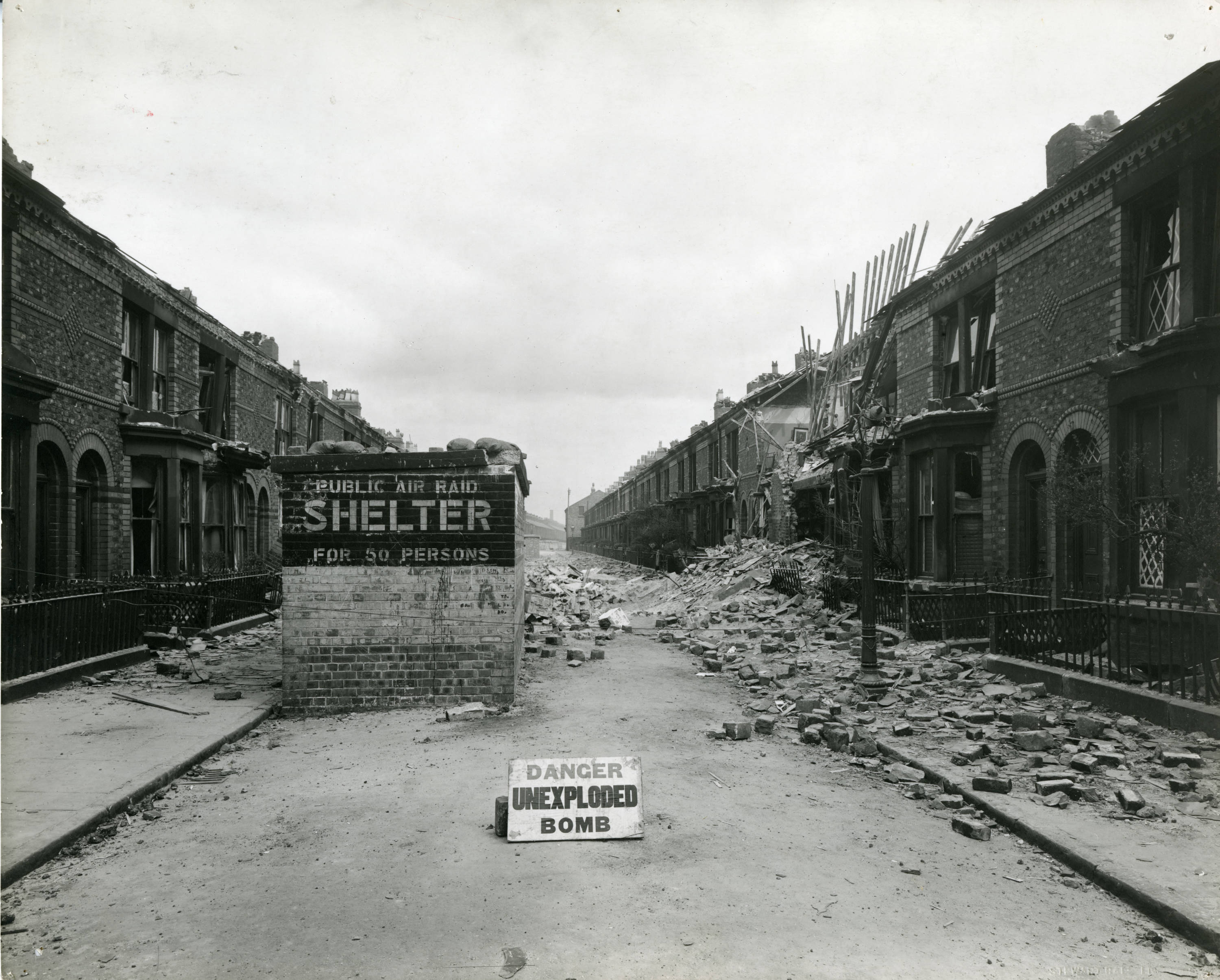 Then and now! Striking images show how Bootle Blitz took its toll