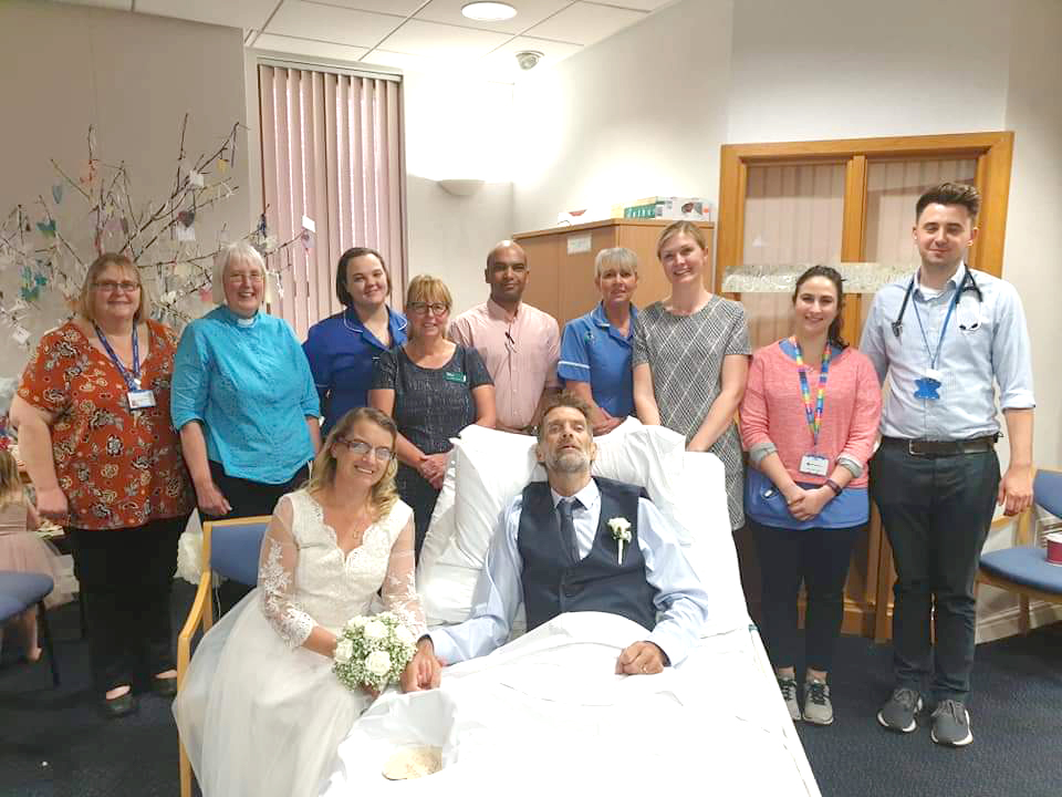 Jo donates mementoes of her special day to hospital staff who arranged wedding to dying fiancé at a day's notice