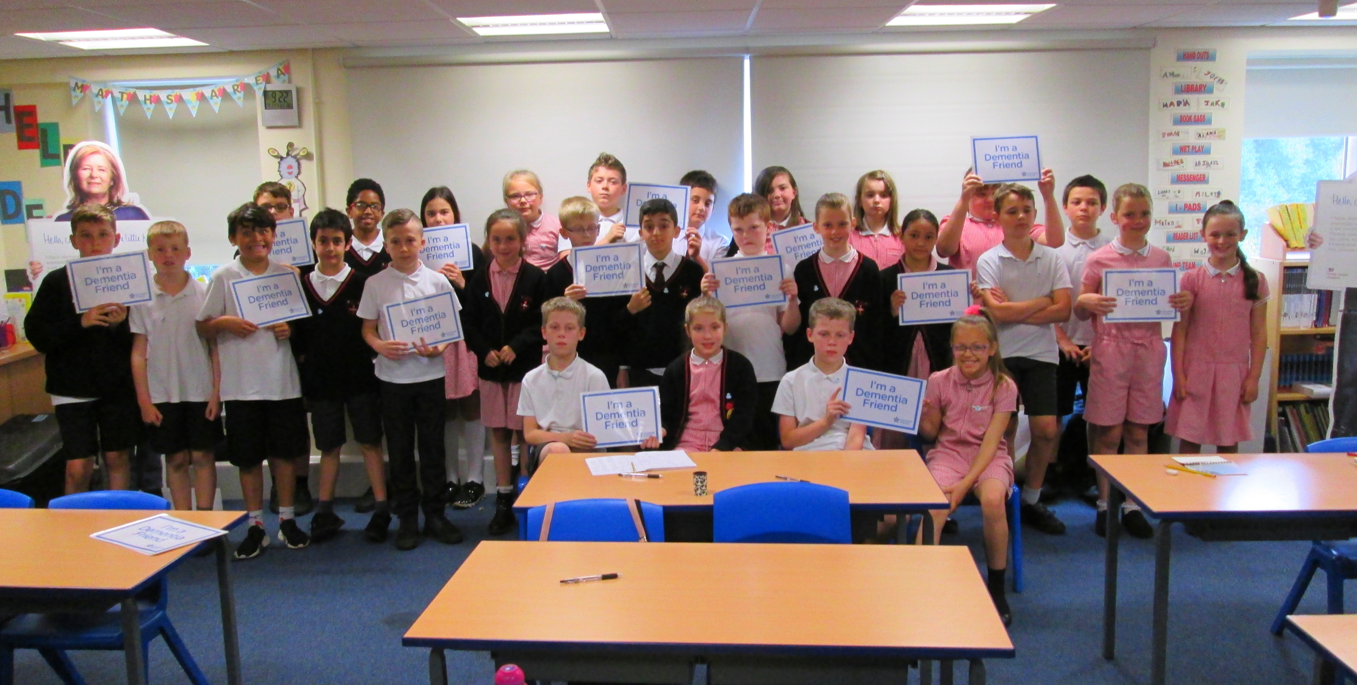 Pupils learn how to become a 'Dementia Friend'