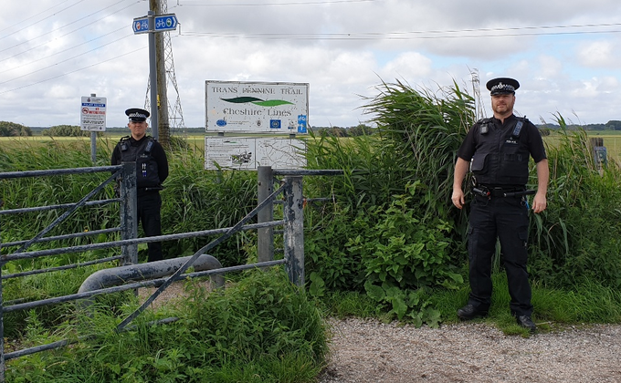 Police crackdown on yobs using off-road bikes on busy cycle path