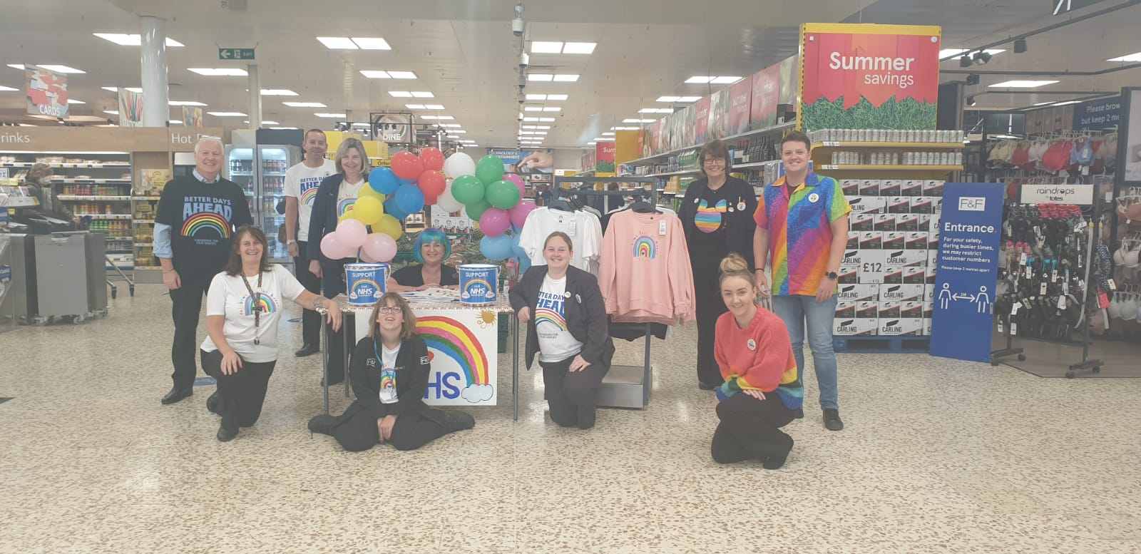 Supermarket staff donate £365 to NHS