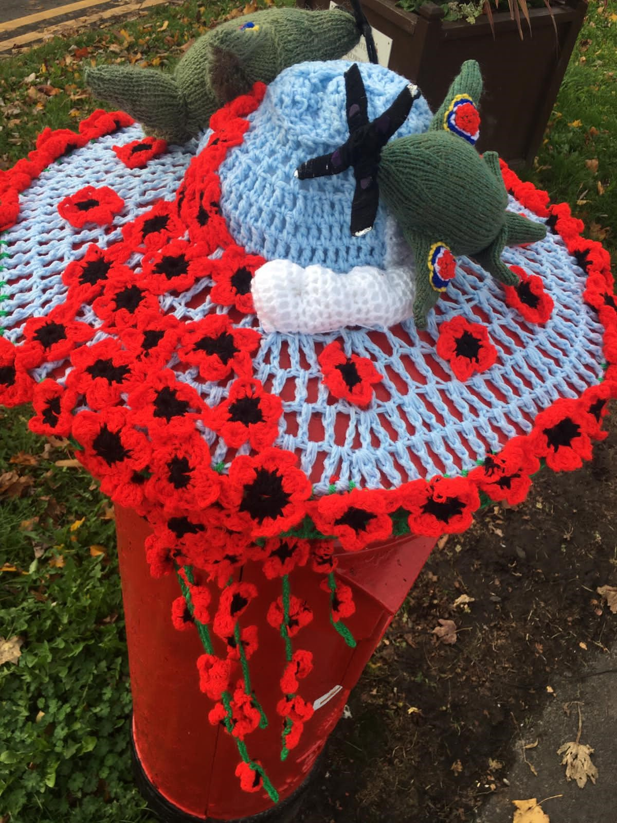 Who has created this 'poppy power' display?