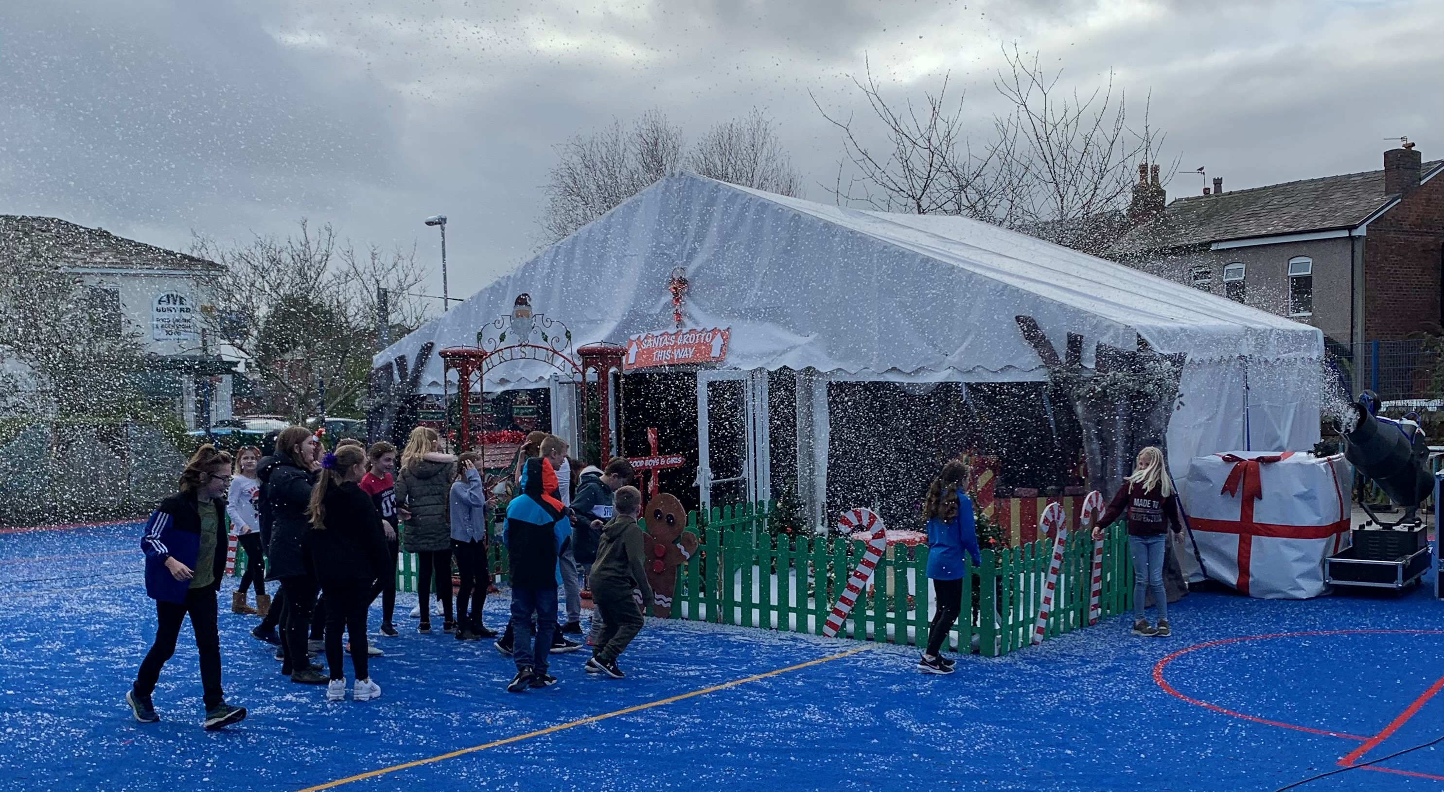 Youngsters delighted to be treated to a surprise Winter Wonderland!