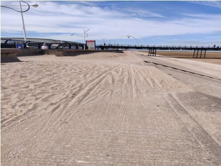 Concerns flagged up by cyclist over dangerous sand near town's Pier