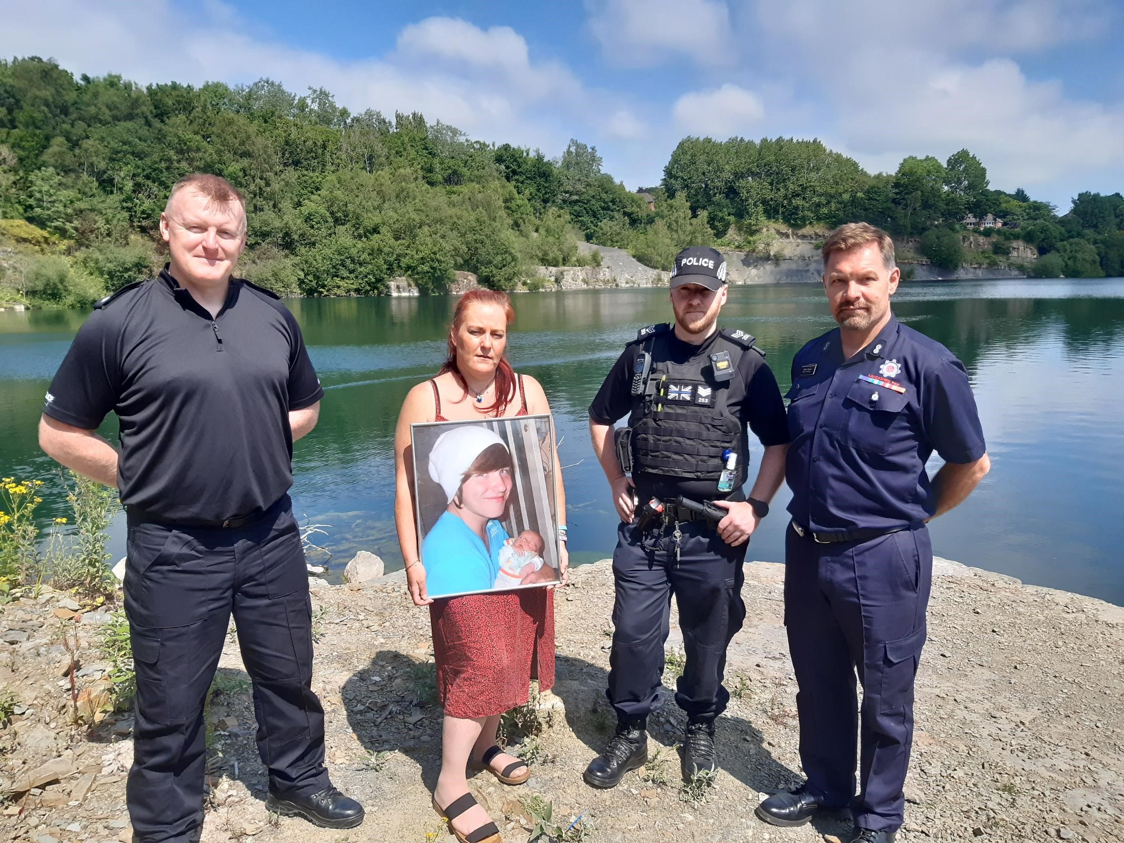 Police re-issue swim warning after removing youths from quarry site