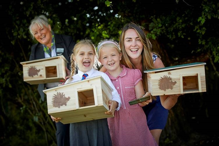 Give a hog a home! Youngsters team up with developer for new animal conservation campaign