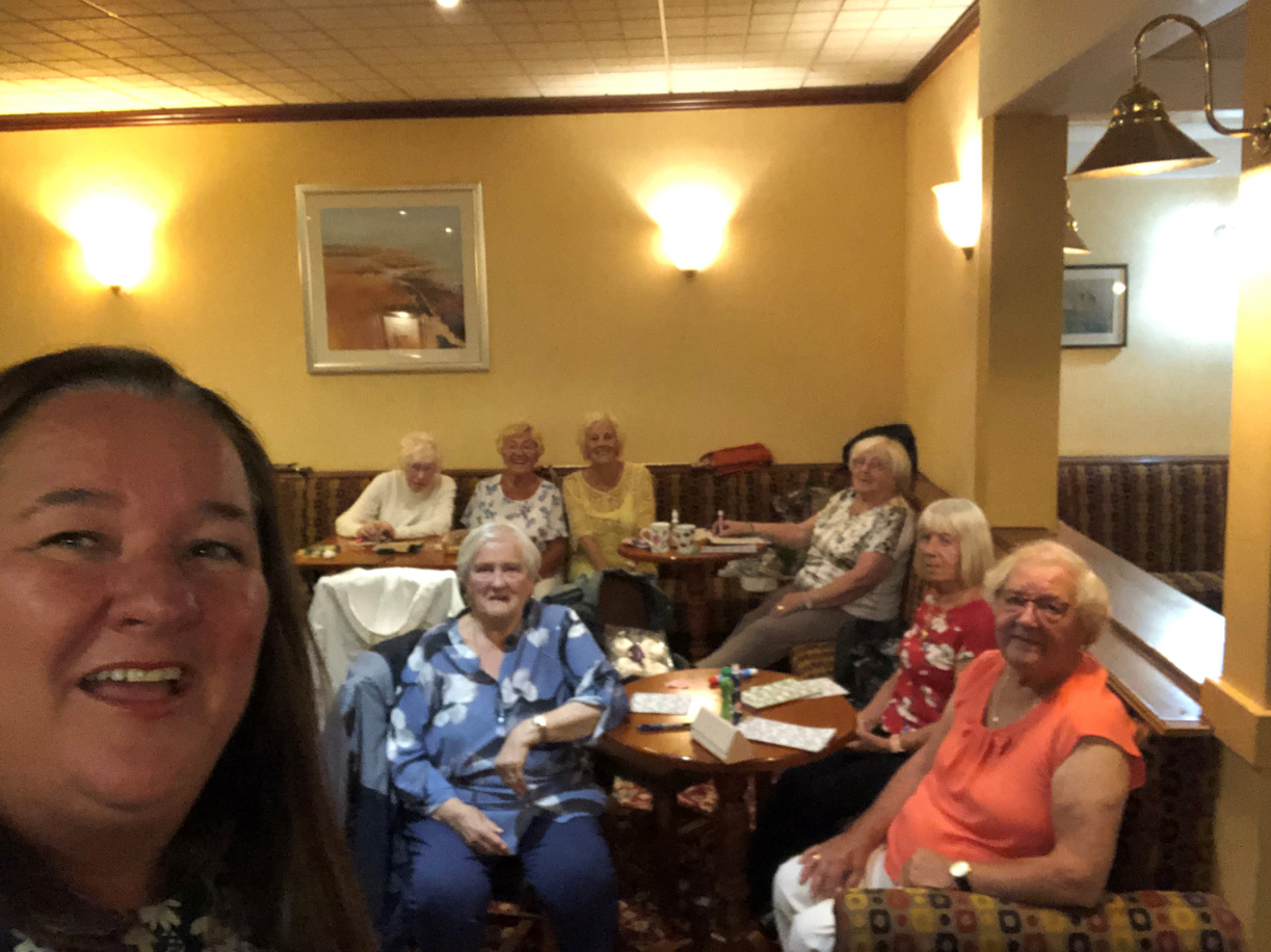Pensioners group have a ball at the bingo!