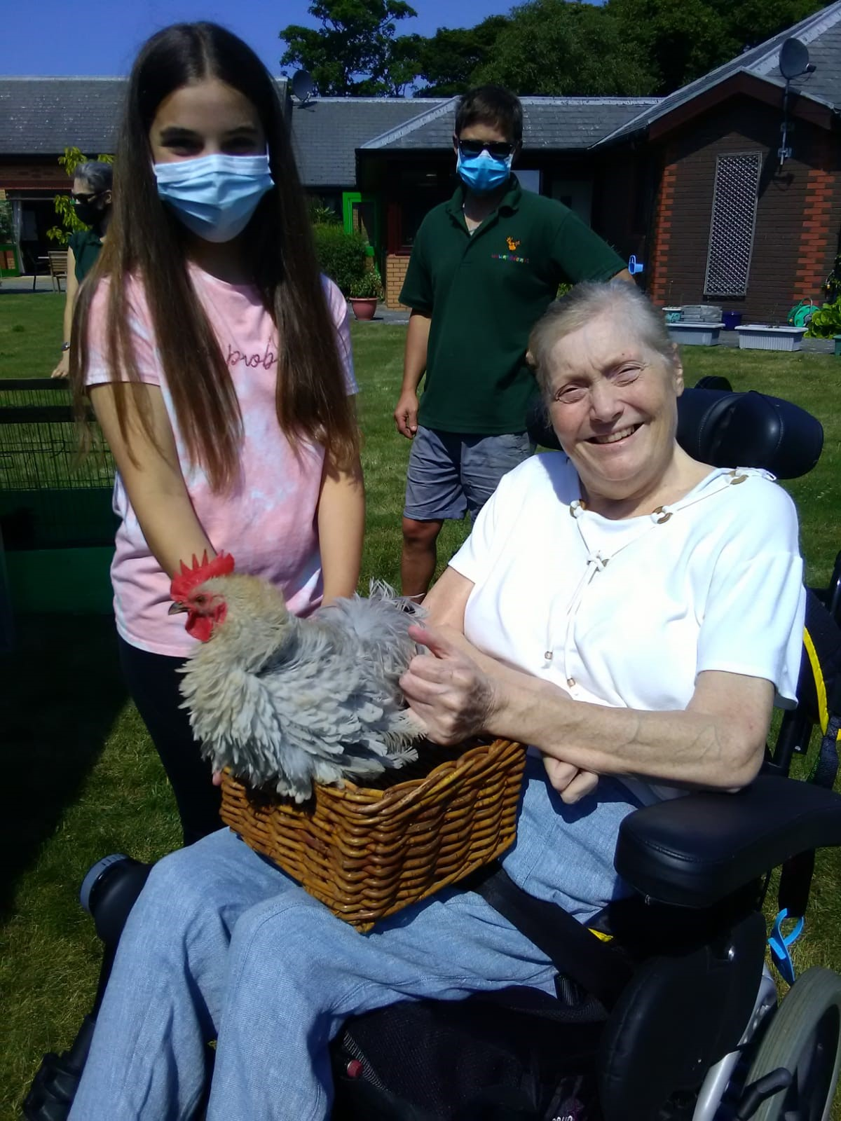 Care home residents enjoy 'petting zoo'