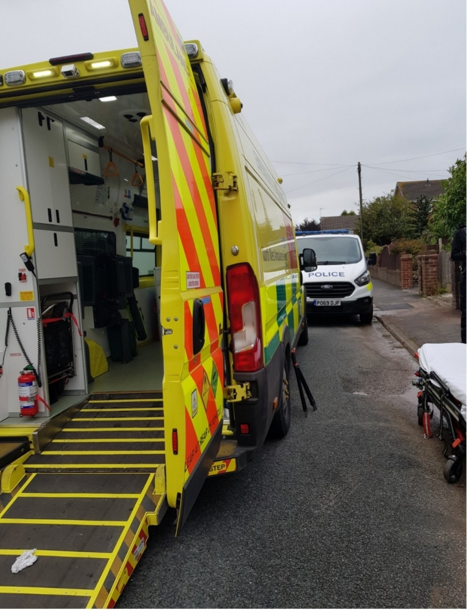 Off-road biker fled after passenger was thrown from vehicle