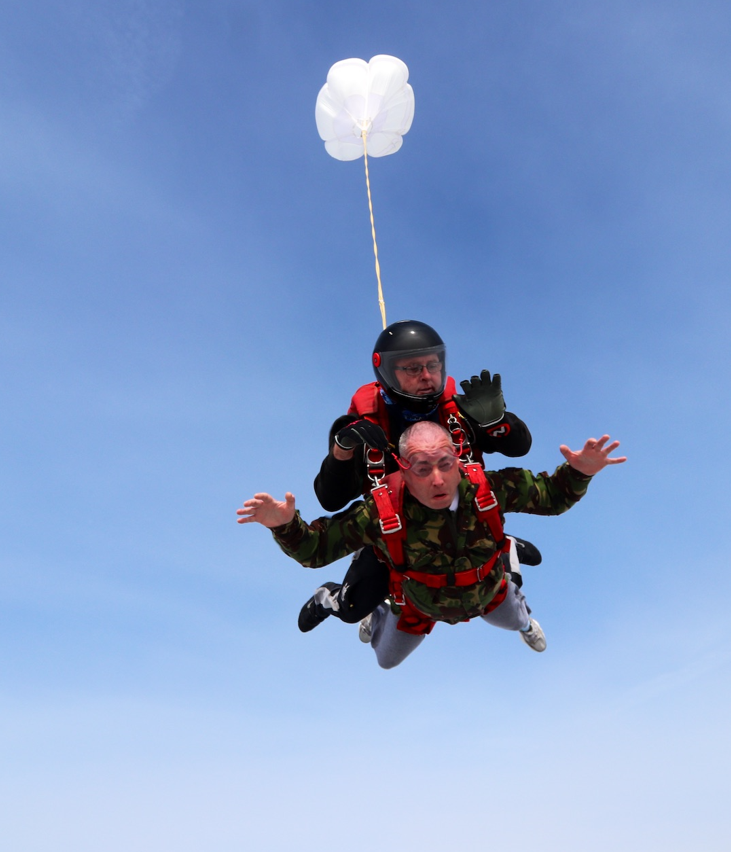 Mike skydives for Stepping Stones!