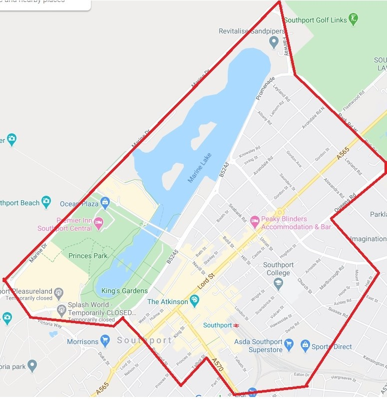 Dispersal order across Southport this weekend