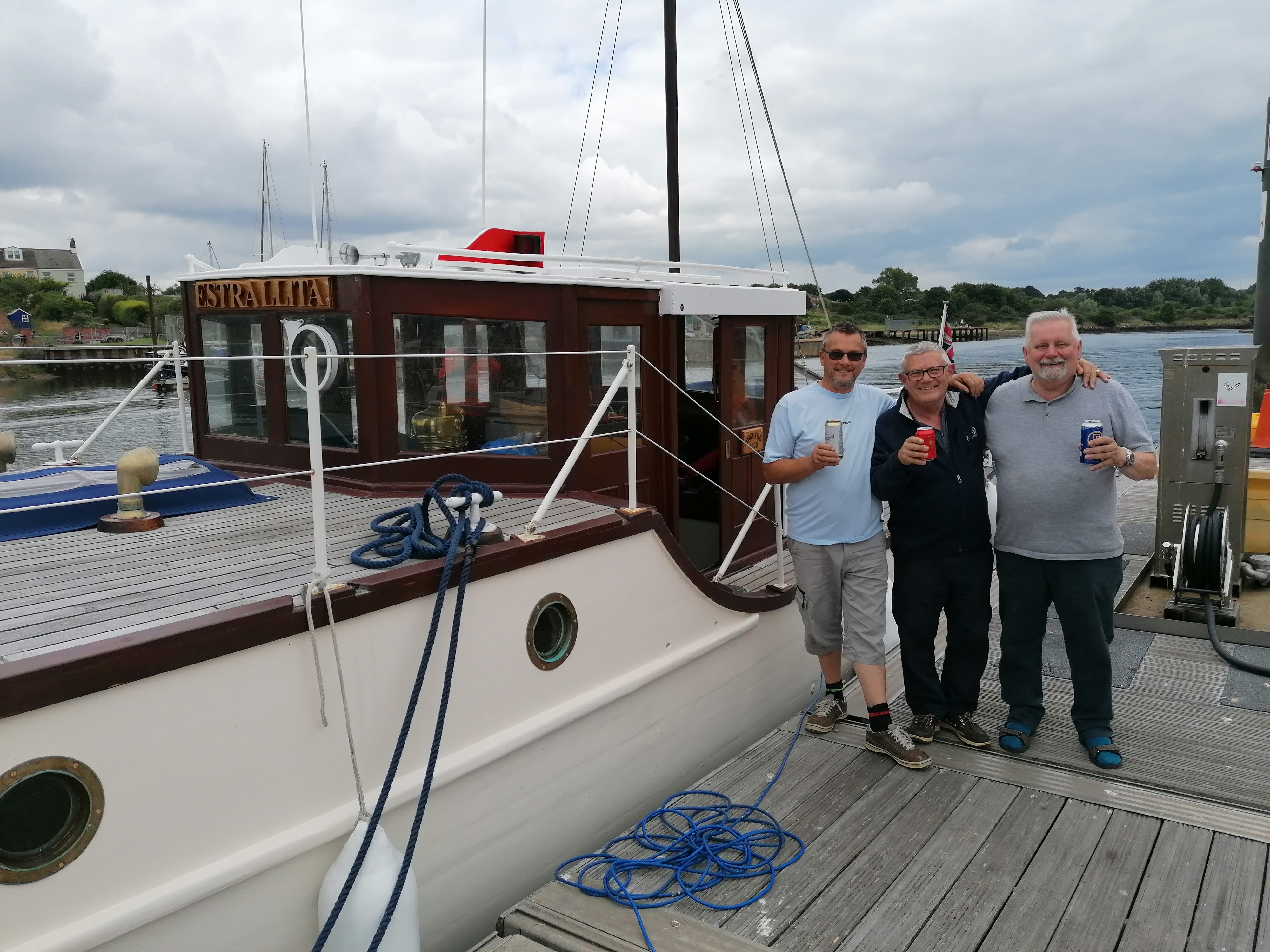Royal Navy veteran takes part in maiden voyage of refurbished 'little ship of Dunkirk'