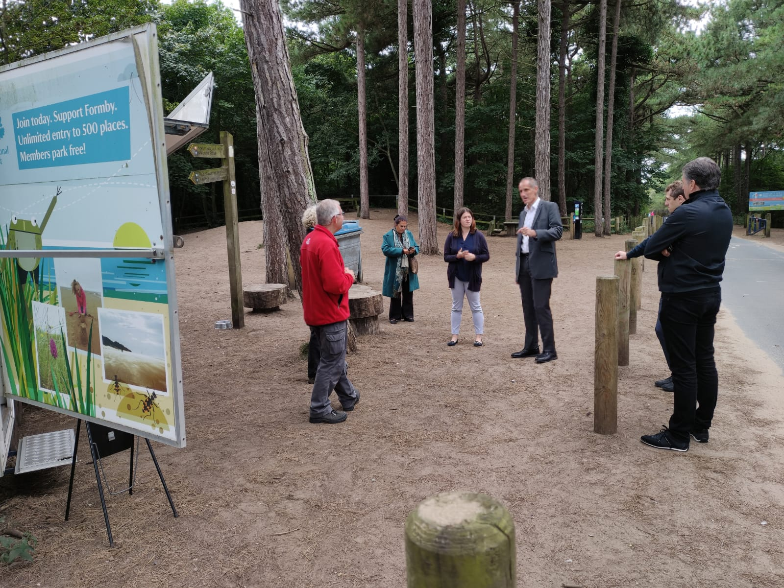 Metro Mayor, MP and PCC go on 'walkabout' in Formby