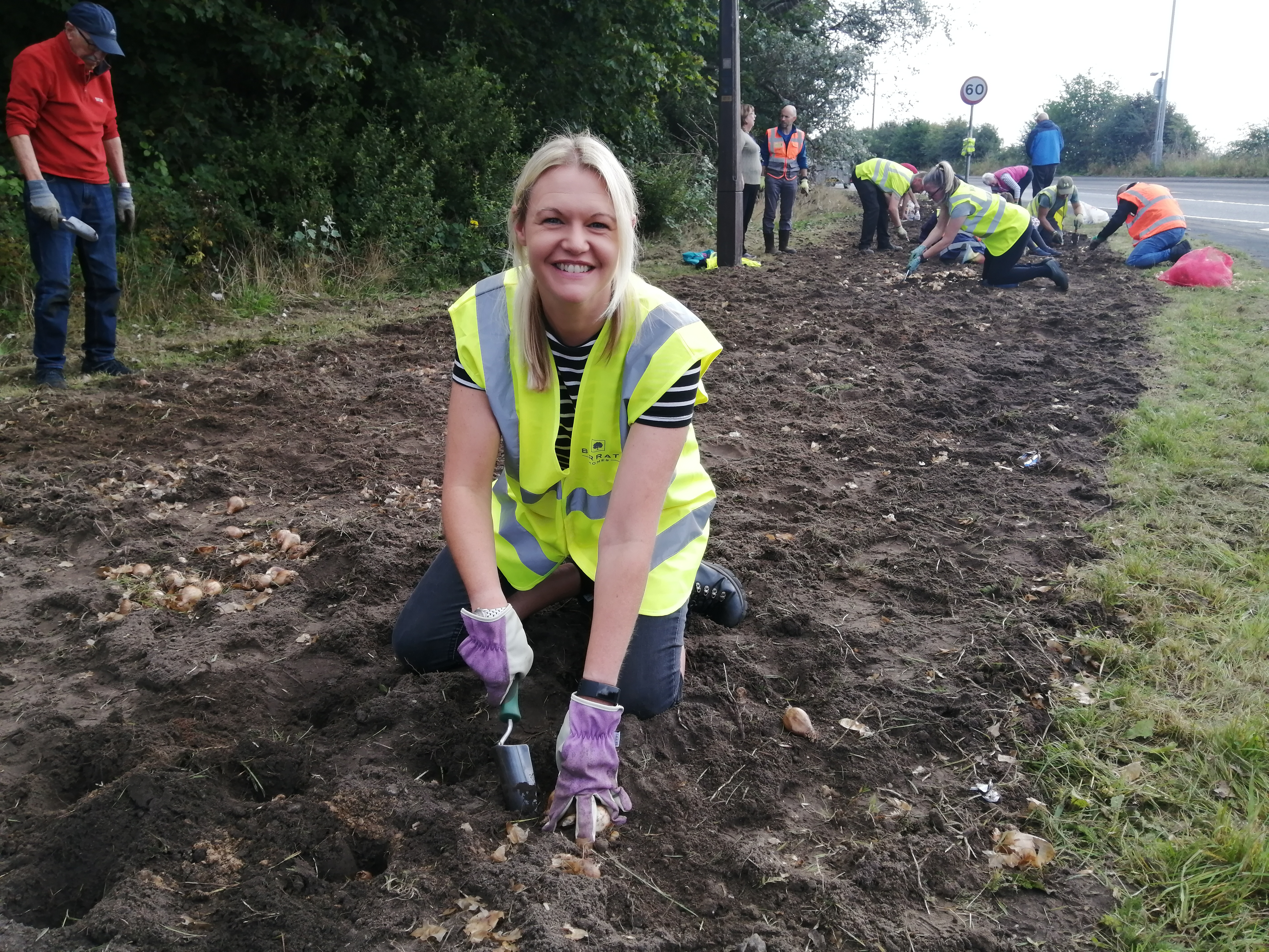 Daffodils replanted by volunteers at Field of Hope