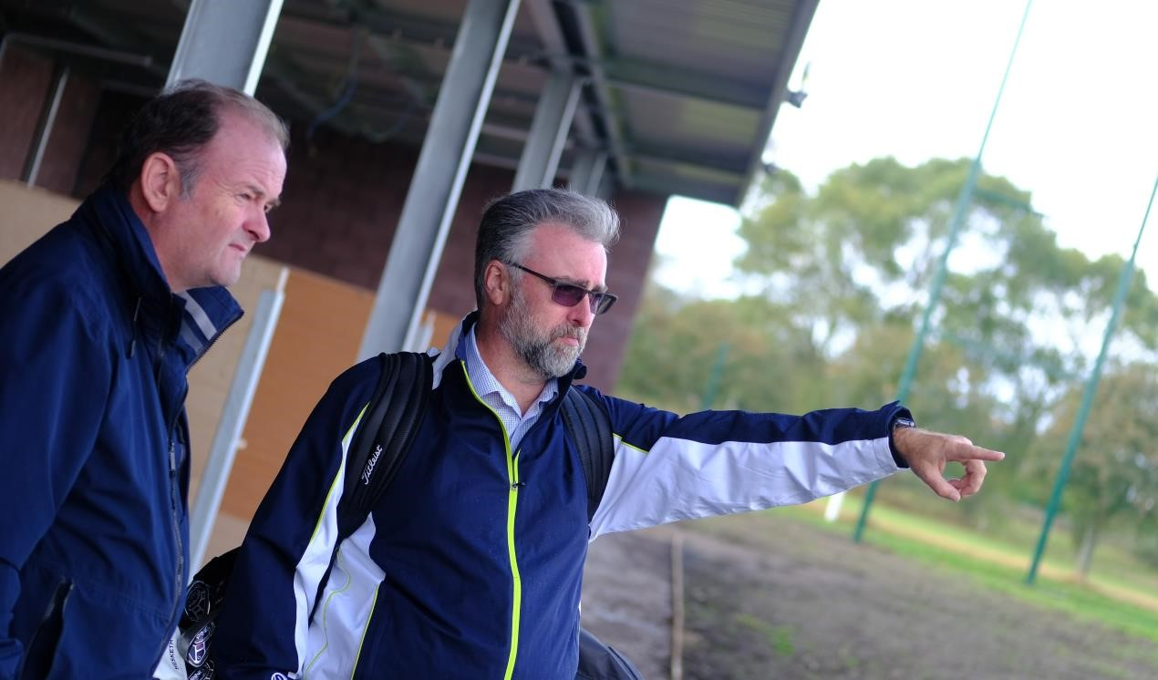 Sefton cabinet member drops in as Bootle driving range enters final weeks of construction